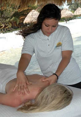 Get a massage on the beach in Belize