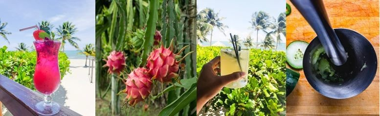 Colorful drinks abound at St. George's Caye Resort - Belize
