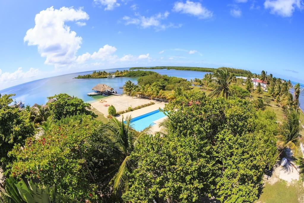 Aerial Views of St George's Caye Resort Belize