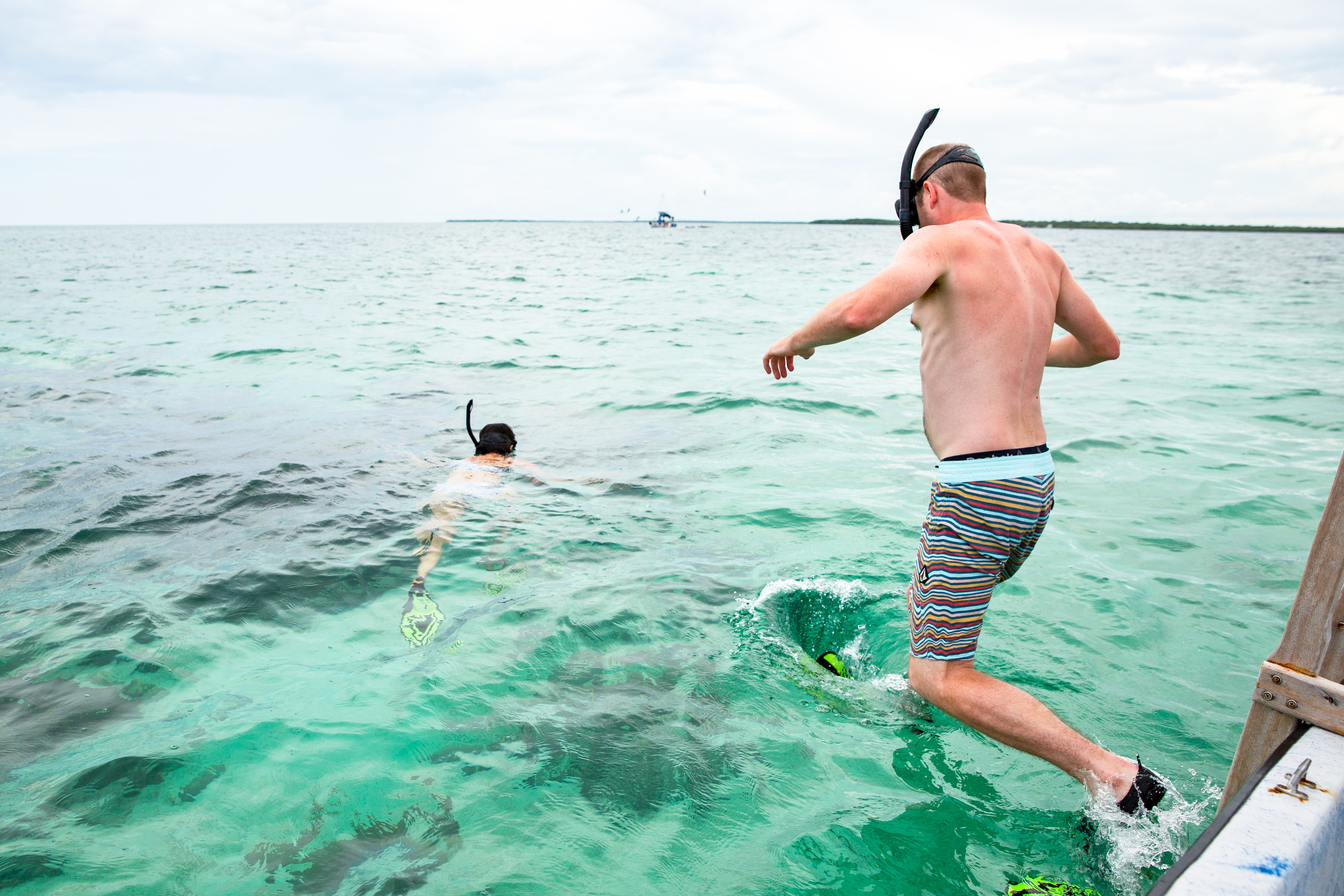 snorkeling in the caribbean sea in Belize