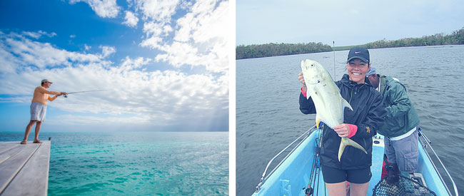 Spin cast and fly fishing at St Georges Caye Resort Belize 3